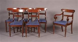 A Set of Six William IV Mahogany Dining Ch