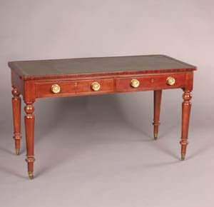 An Early Victorian Mahogany Writing Table,