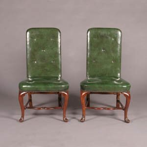 12: A Pair of Queen Anne Walnut Side Chairs,