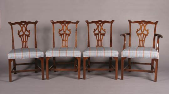 14: A Set of Eight George III Mahogany Dining