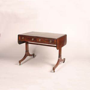 19: A Regency Inlaid Mahogany Sofa Table,