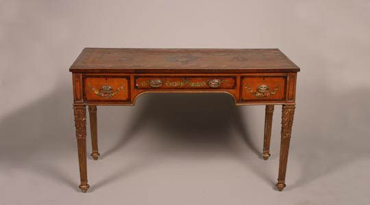 21: A Satinwood Writing Table,