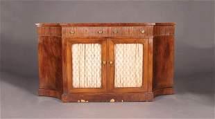 A Regency Style Flame Mahogany Sideboard,