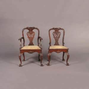 Two Chippendale Style Chairs,