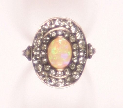 512: A Victorian Yellow Gold and Silver Opal