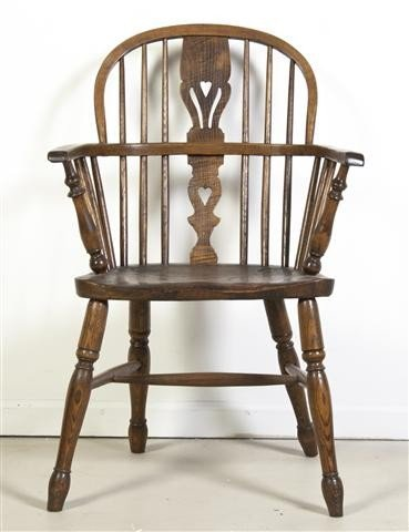 10: An English Windsor Armchair, Height 35 1/4 inches.