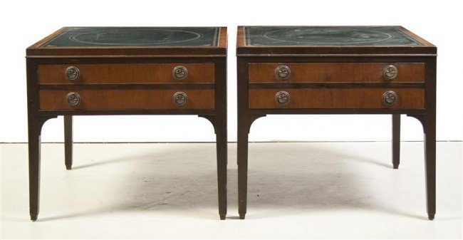 14: A Pair of American Side Tables, Kittinger, Height 2