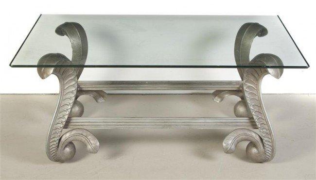 21: An Aluminum Low Table, Height 20 x width 40 x depth