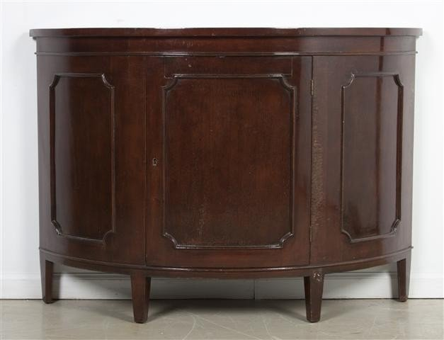 23: A Georgian Style Mahogany Console Cabinet, Height 3