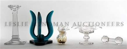 321: A Collection of Decorative Glass Articles, Height
