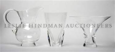 328 A Group of Steuben Glass Articles Height of pitch
