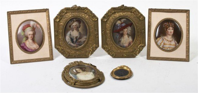 515: A Collection of Five Portrait Miniatures, Height o