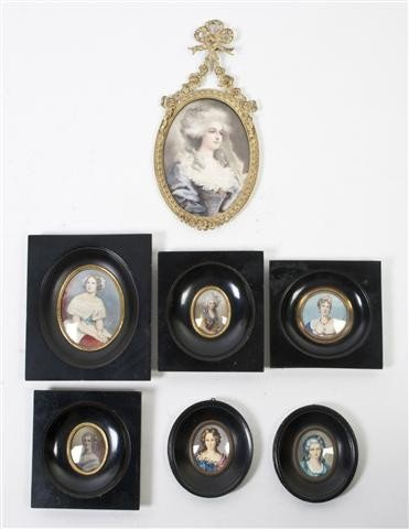 516: A Collection of Six Portrait Miniatures, Height of