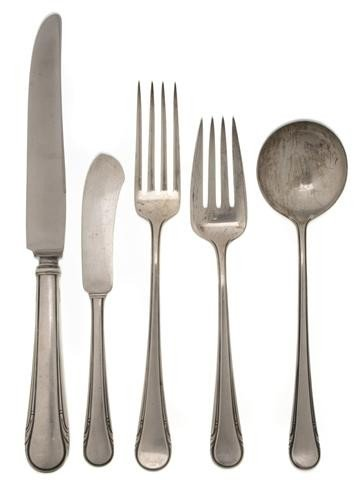 528: A Partial Set of American Sterling Silver Flatware