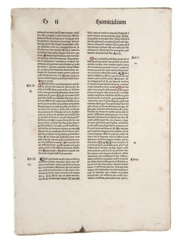 5: (INCUNABLE, LEAVES) A group of 20 incunable leaves.
