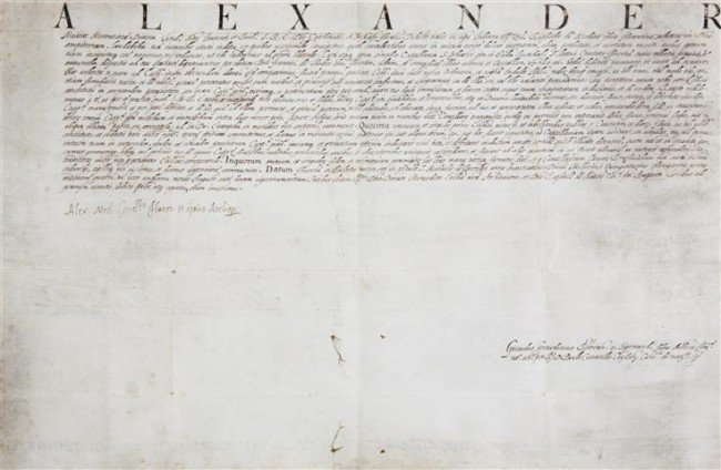 54: POPE LEO XI. Autograph document signed, as Cardinal