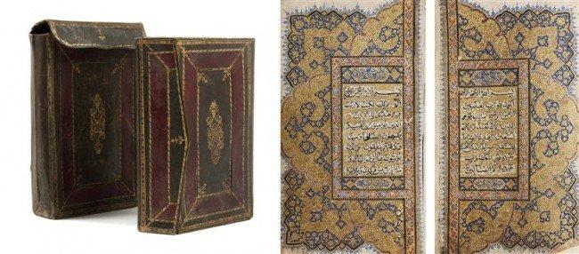 174: (KORAN) An illuminated Koran, n.d. (nineteenth-cen