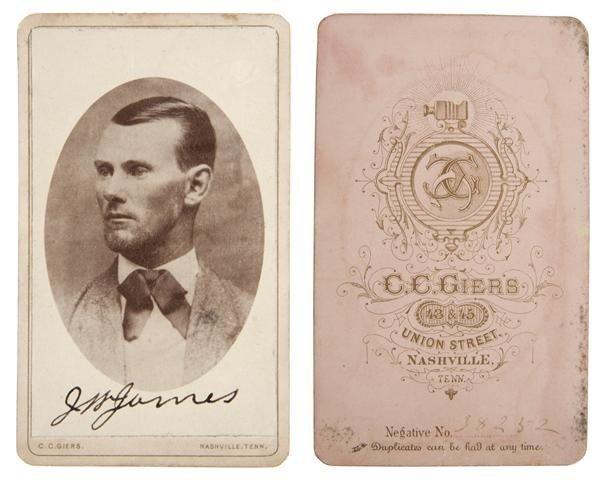 199: JAMES, JESSE. Albumen Print Cabinet Card Portrait