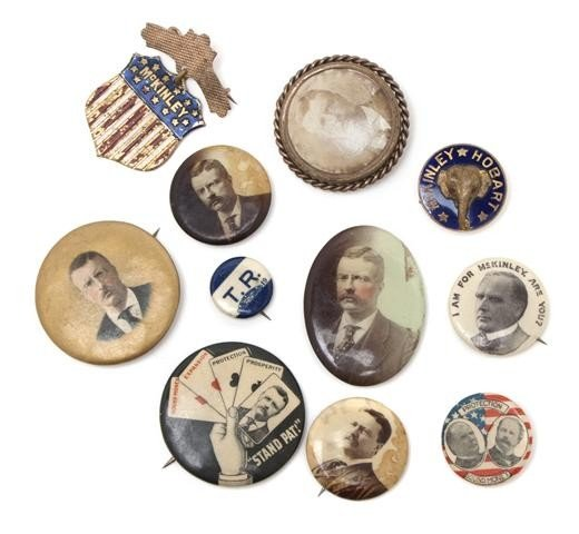 205: (POLITICAL BUTTONS) ROOSEVELT, THEODORE. A collect