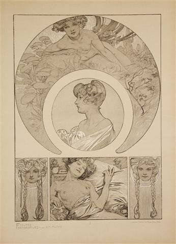 331: MUCHA, ALPHONSE. Figures decoratives. Paris, n.d.