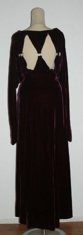 4: Purple Velvet Evening Gown
