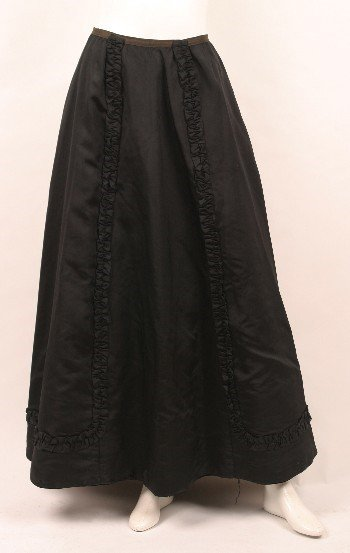 5: Edwardian Black Faille Full Length Skirt