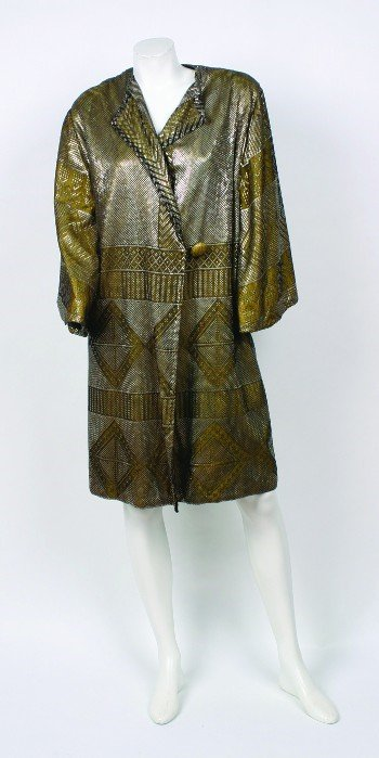 7: Art Deco Egyptian Metal Mesh Wedding Shawl
