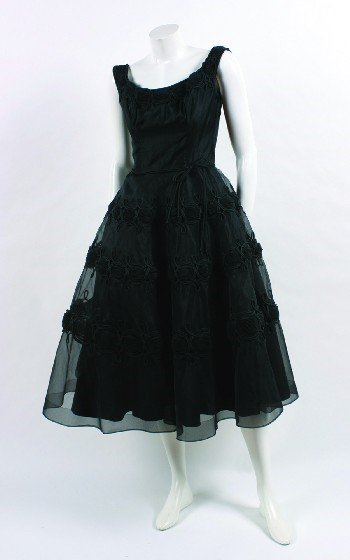 10: Ceil Chapman Black Silk Dress