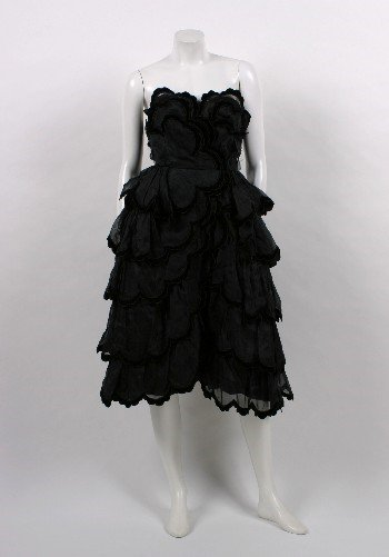 14: Chanel Cocktail Length Ruffle Evening Dress