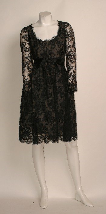 17A: Black Lace Evening Dress