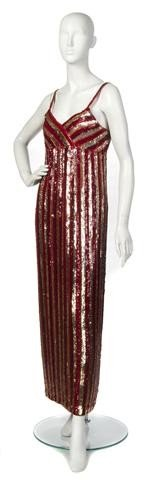 2: A Saks Fifth Avenue Gold and Red Sequin and Beaded E