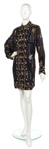 6: A Sequin and Embroidered Mid Length Evening Jacket,