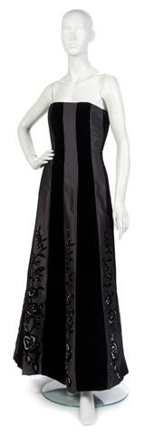 10: A Black Strapless Evening Gown.