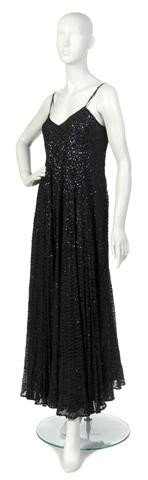 11: A Black Lace and Silk Evening Gown,