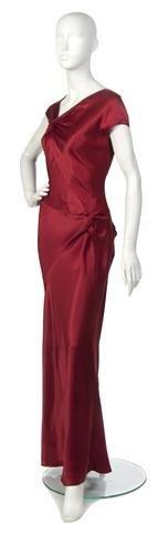 12: A John Galliano Red Silk Evening Gown,