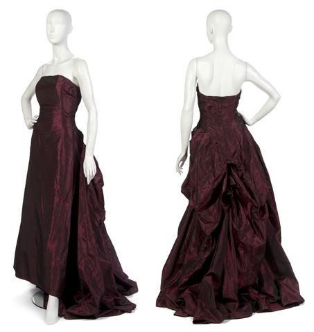 16: A Red Shantung Evening Gown,