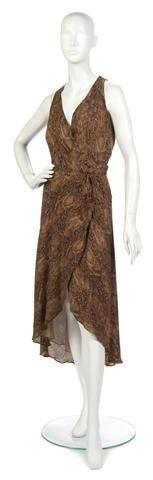 17: A Silk Snakeskin Print Halter Dress,