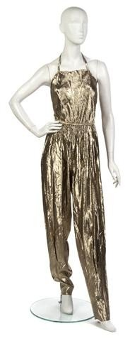 18: A Stephen Burrows Gold Lame Jumpsuit,