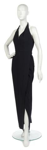 19: A Carolyne Roehm Black Evening Gown.