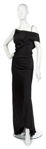 24: An Amanda Wakeley Black Silk Evening Gown.
