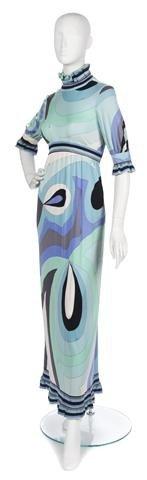 64: An Emilio Pucci Silk Jersey Maxi Dress, Size 10.