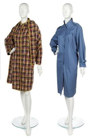 75: A Bonnie Cashin Multicolor Wool Tweed Coat,