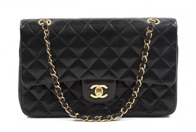 274: A Chanel Black Quilted Leather Bag, 10 x 7 inches.