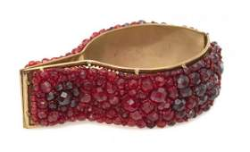 386: A Coppola e Toppo Red Beaded Cuff,