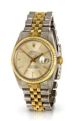 307: A Stainless Steel and Yellow Gold Oyster Perpetual