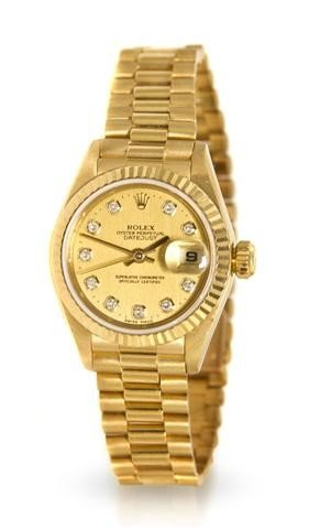 309: An 18 Karat Yellow Gold and Diamond Datejust Wrist