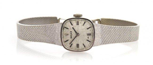 310: A 14 Karat White Gold Wristwatch, Rolex,