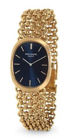 321: An 18 Karat Yellow Gold Golden Ellipse Wristwatch,