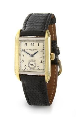 324: An 18 Karat Yellow Gold Mechanical Wristwatch, Pat