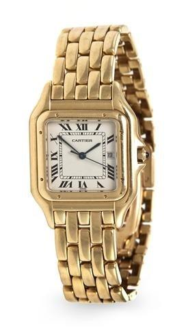 326A: An 18 Karat Yellow Gold Panthere Wristwatch, Cart